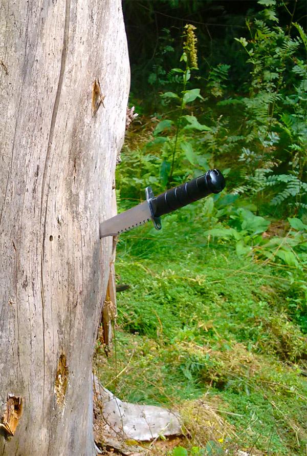 Метание ножа.