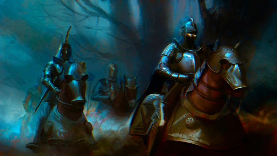 Средневековые доспешные воины