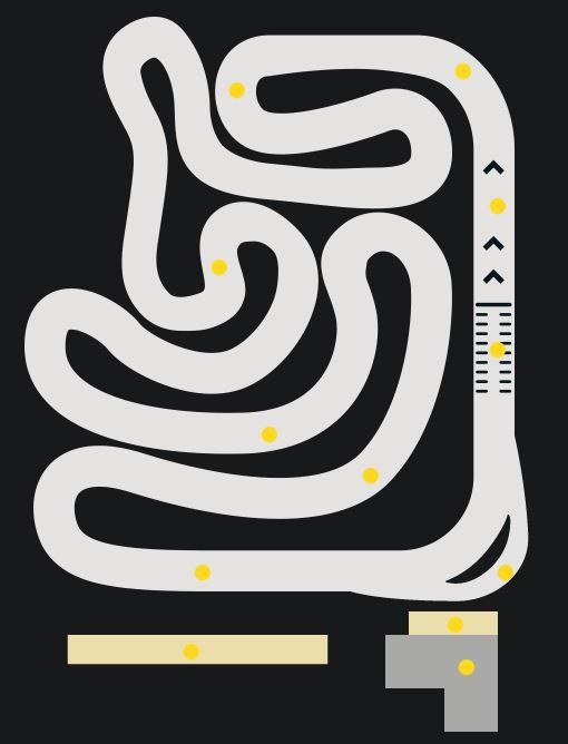 Карта картинговой трассы