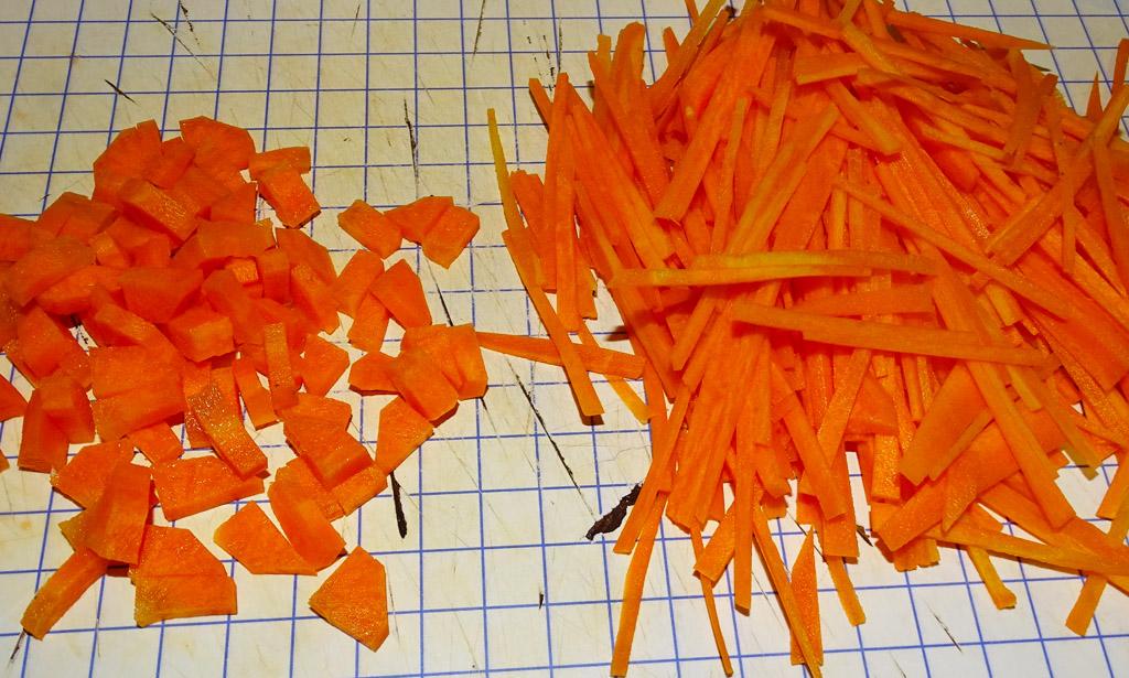 Морковь нарезанная