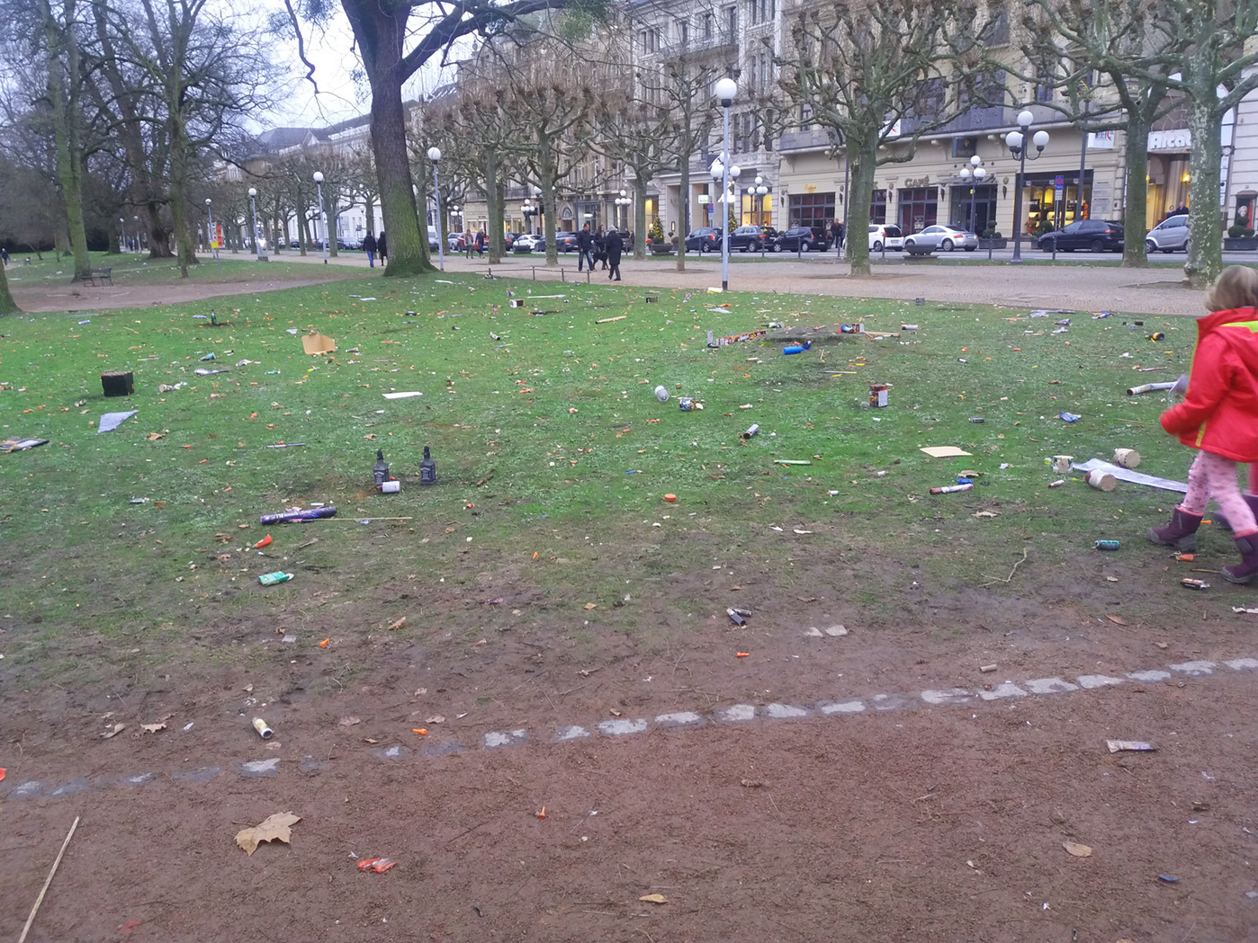 Парк в городе Висбадене после праздников