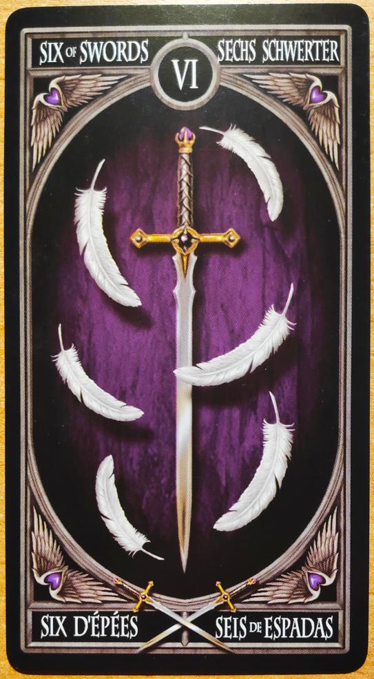Таро. Аркан шестерка мечей