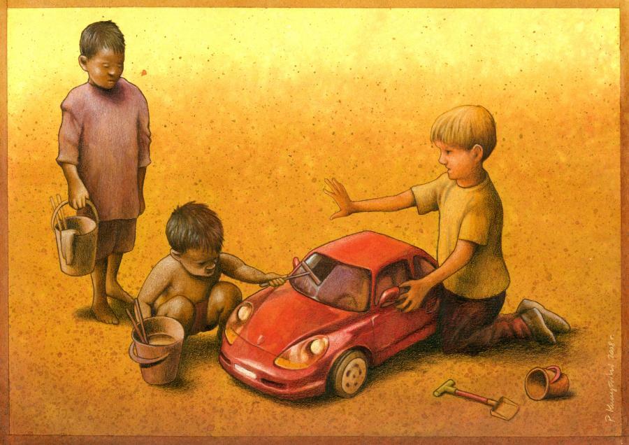 Satirical Art Drawings by Pawel Kuczynski